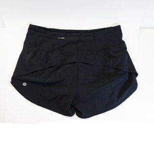 "NWOT, Lululemon Speed Up Short Black 4"", 8 Tall"